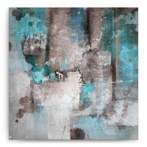 'Inkd XXVI' Abstract Wrapped Canvas Wall Art