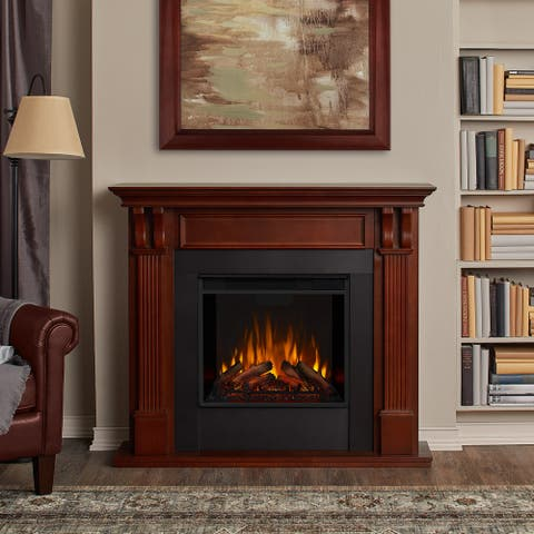 Ashley Electric Fireplace in Mahogany - 48.03Lx13.78Wx41.25H