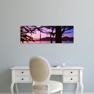 Easy Art Prints Panoramic Image 'Suspension Bridge, Golden Gate Bridge, San Francisco, California' Canvas Art