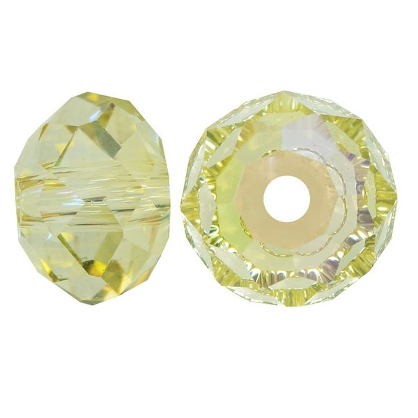 Swarovski Crystal, 5040 Rondelle Beads 6mm, 10 Pieces, Crystal Luminous Green