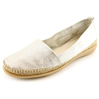 The Flexx Rapid Women Round Toe Leather Silver Espadrille
