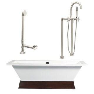 """Giagni LT4-C Tella 66"""" Free Standing Soaking Tub Package - Includes Tub, Tub Pli"""