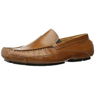 Rockport Mens Luxury Cruise Leather Square Toe Loafers - 10 medium (d)