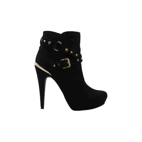 G by Guess Womens Deeka Fabric Almond Toe Mid-Calf Fashion Boots