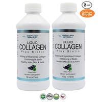 Beaver Brook Liquid Collagen 8,000mg + 10,000 mcg Biotin - 16oz - 2 Pack - 16 Oz