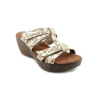 Helle Comfort MOD.GARDEN Women Open Toe Leather Wedge Sandal