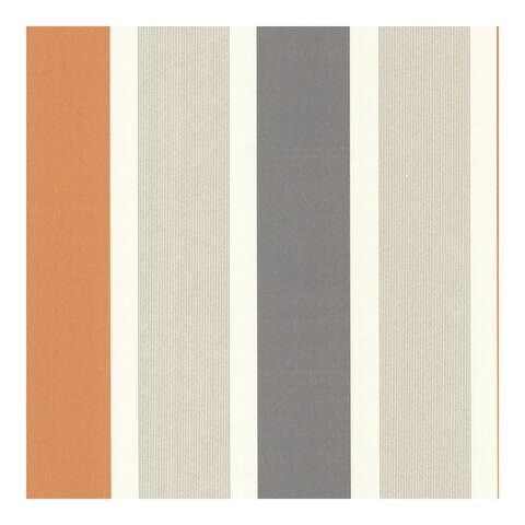 Horizon Orange Stripe Wallpaper - 20.5in x 396in x 0.025in