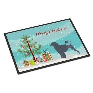 Carolines Treasures BB2986MAT Portuguese Water Dog Merry Christmas Tree Indoor or Outdoor Mat 18x27