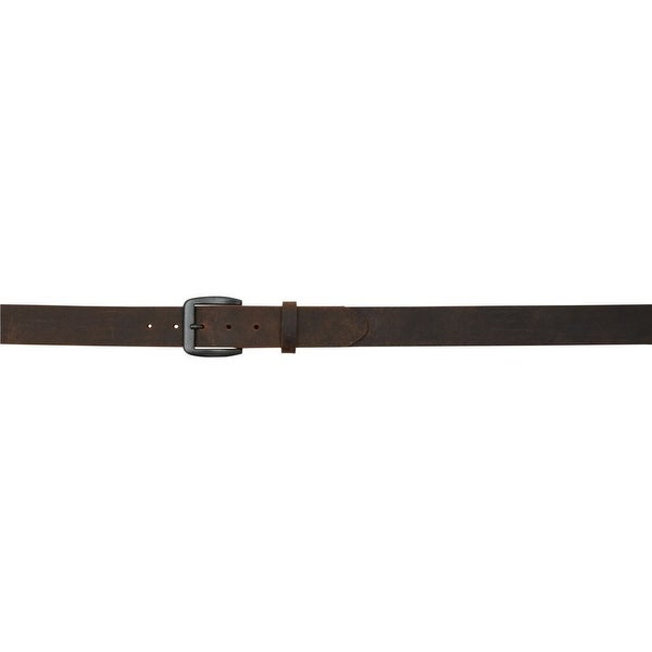 3D Belt Mens Western Raw Edge Single Brass Ply Antique Brown