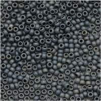 Toho Round Seed Beads 15/0 612 'Matte Gun Metal' 8g