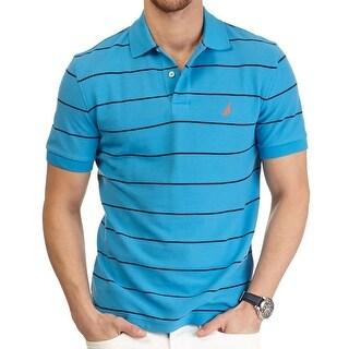Nautica Mens Deck Shirt Polo Shirt Classic Fit Striped