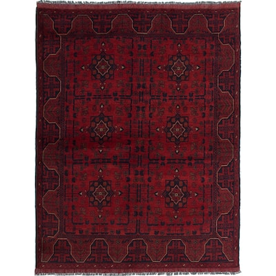 ECARPETGALLERY Hand-knotted Finest Khal Mohammadi Red Wool Rug - 5'0 x 6'6