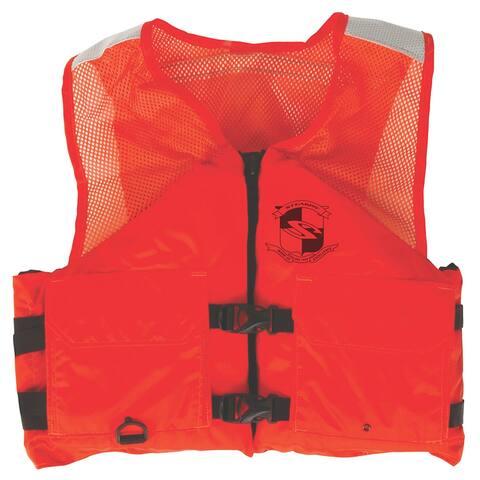 Stearns work zone gear life vest i424 3xl orange