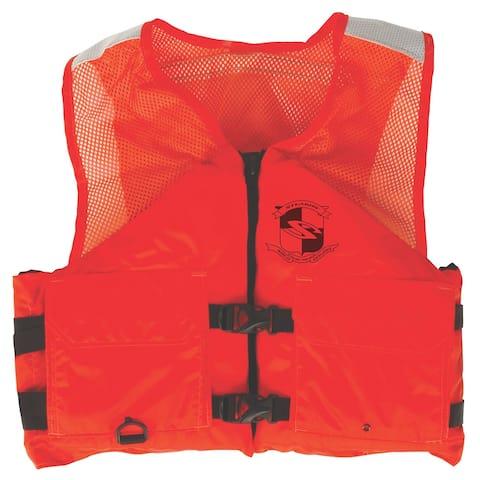 Stearns work zone gear life vest i424 l orange