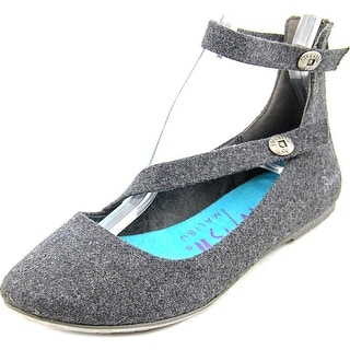Blowfish Ranton Women Round Toe Canvas Gray Flats