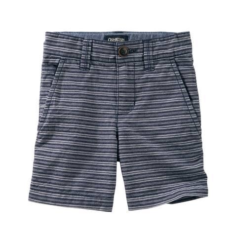 OshKosh B'gosh Baby Boys' Striped Flat Front Shorts, 12 Months