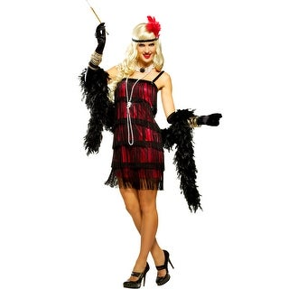 Goddessey Fifth Avenue Flapper Adult Costume (Red) - Red - Small