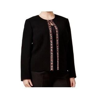 Tahari by ASL NEW Black Embellished Women's 22W Plus Blazer Jacket