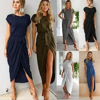 Soft Front Open Maxi Dress