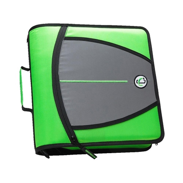 Case-it Mighty Zip Tab O-Ring Binder, Green, 3 Inches. Opens flyout.