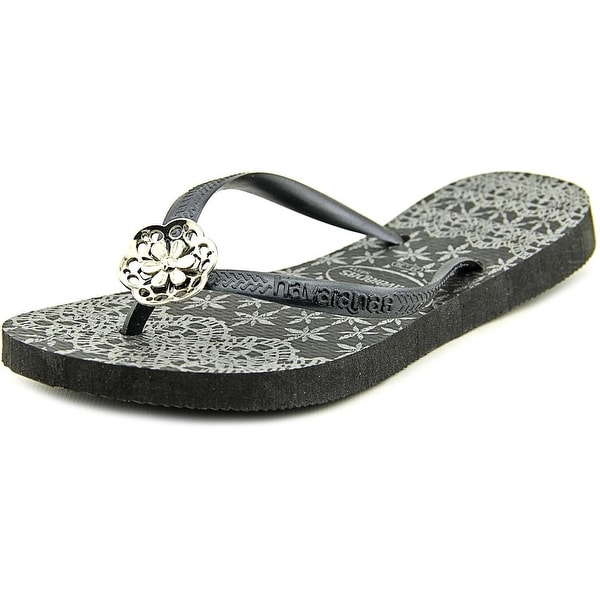 Havaianas Slim Lace Open Toe Synthetic Flip Flop Sandal