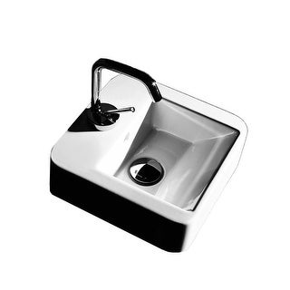 """Link to WS Bath Collections Quadro 3407 11-3/4"""" Ceramic Wall Mounted / Vessel - White Similar Items in Sinks"""