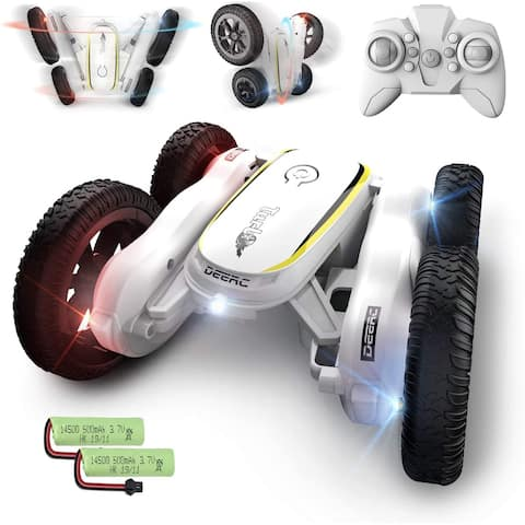 RC Stunt Cars Remote Control Toys for Kids Demo Mode Music Led Lights