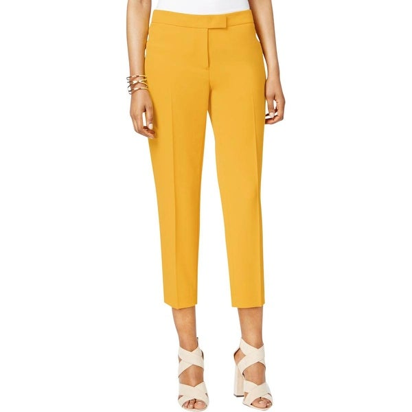 f915b6fe0246a Anne Klein Womens Cropped Pants Slim Fit Crepe