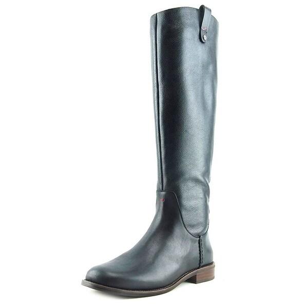 ED Ellen DeGeneres Zoila Women Round Toe Leather Black Knee High Boot