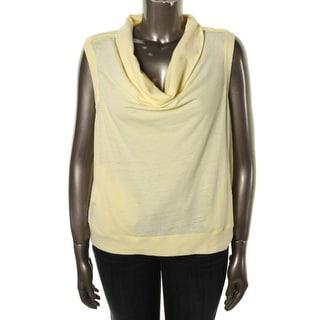 DKNY Jeans Womens Juniors Slub Cap Sleeves Pullover Top - XL