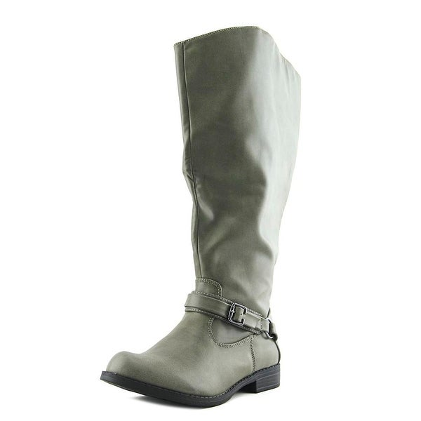 Easy Street Quinn Extra Wide Calf Granite Burnish Boots
