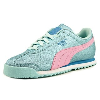Puma Roma Glitz Glamm Youth Round Toe Synthetic Blue Sneakers (Option: 10.5)