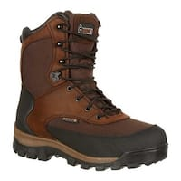 """Rocky Men's 8"""" Core Insulated Outdoor Boot WP 4753 Brown Full Grain Leather/Textile"""