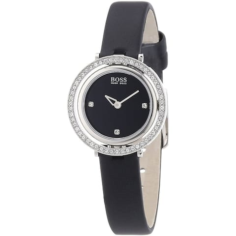 Hugo Boss Women's 1502279 'Classic' Black Leather Watch