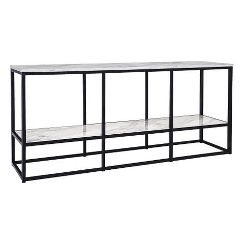 Donnesta Contemporary Extra Large TV Stand, Steel
