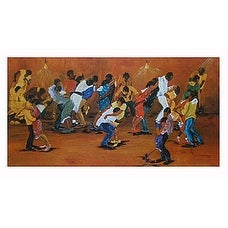 ''Dance Marathon'' by Annie Lee African American Art Print (16.5 x 29.875 in.)