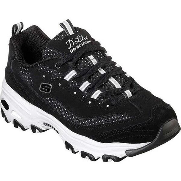 65c996e58466 Shop Skechers Women's D'Lites Polka Nite Sneaker Black/White - On Sale -  Free Shipping Today - Overstock - 25753285