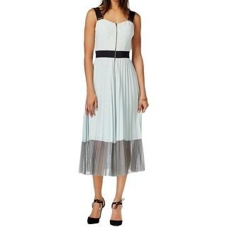 Rachel Roy Womens Casual Dress Pleated Sleeveless - 14