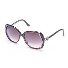 Moschino Women's Bow Detailed Sunglasses Black/Purple - Small