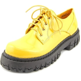 2 Lips Too Too Boyz Women Round Toe Synthetic Yellow Oxford