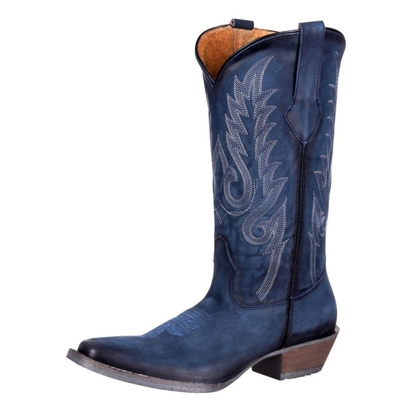 Durango Western Boots Womens Dream Catcher Narrow Square Denim