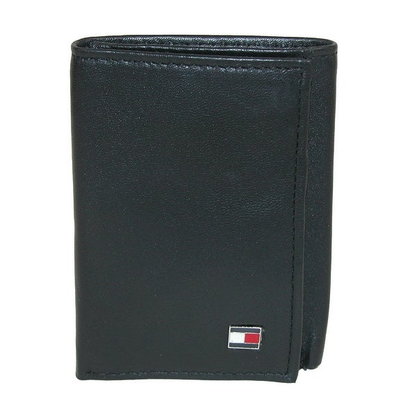 Tommy Hilfiger Men S Leather Oxford Slim Trifold Wallet