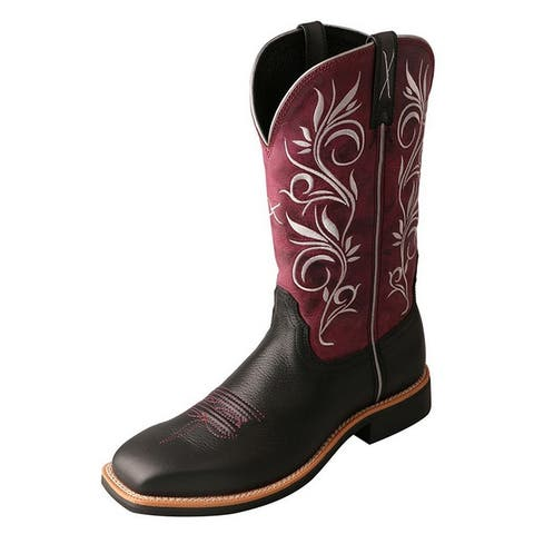 Twisted X Western Boots Womens Top Hand Rubber Softy Black