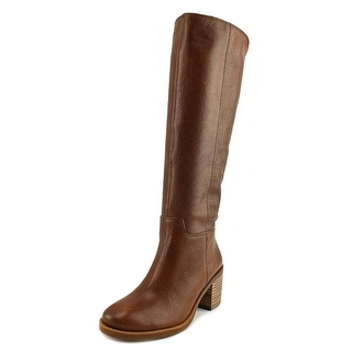 Lucky Brand Ritten Wide Calf Women  Round Toe Leather Brown Knee High Boot