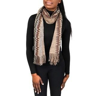 Missoni SC31WMU5171 0005 Tan/Grey Wool Blend Womens Scarf - 17 - 70