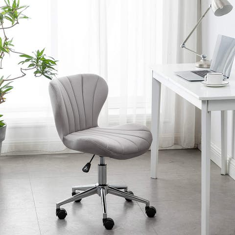 BTEXPERT Vanity Plush Velvet Workplace Meeting Conference Makeup Desk Chair Upholstered Home Office Chair
