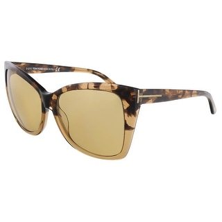 Tom Ford FT0295/S 53J Carli Tortoise Gradient Square Sunglasses