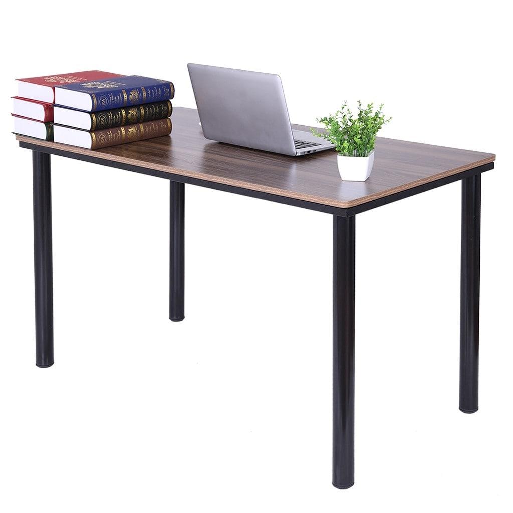 Household Steel Wood Computer Desk Pc Laptop Study Table Office Desk Workstation Overstock 31928948