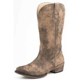 "Link to Roper Western Boots Womens Riley Scroll 12"" Brown Similar Items in Women's Shoes"