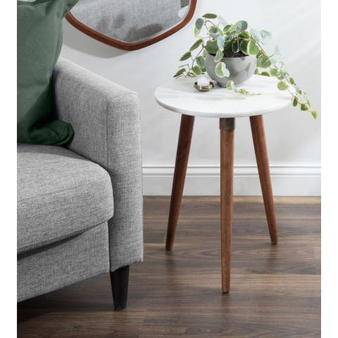 Kate and Laurel Rumsen Round Side Table